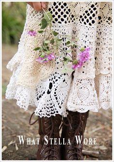 #DIY Vintage #Lace and #Doily #Dress