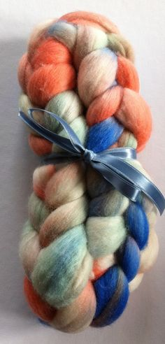 Fresh Merino Spinning fiber by Ulljente on Etsy Spinning, Red And White, Fiber, Hand Painted, Fresh, Wool, Handmade, Etsy, Hand Spinning