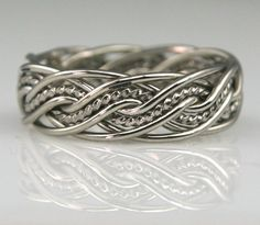 Braided Silver Wedding Rings and Unique Silver Wedding Bands