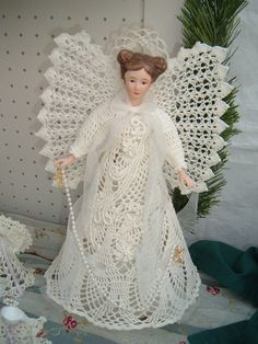 Handmade Croched+Angel+by+AngelsandTreasures+on+Etsy