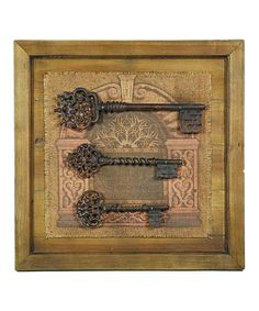 Take a look at this Gray Weathered Key Trio Wall Art by Galt International on #zulily today!