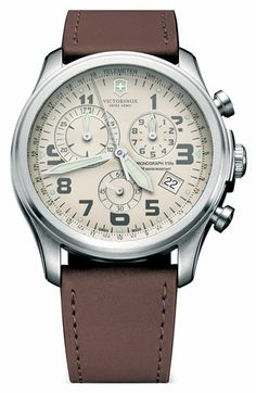 Victorinox Swiss Army® 'Infantry - Vintage' Chronograph Leather Strap Watch available at #Nordstrom