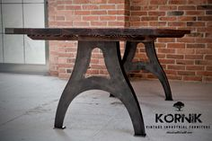 vintage industrial table from kornik.co