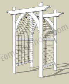 Garden Arbor DIY Plans -- archway trellis/gate for entry.Vegetable Garden Arbor DIY Plans -- archway trellis/gate for entry. Trellis Gate, Arbors Trellis, Garden Trellis, Cattle Panel Trellis, Flower Trellis, Diy Trellis, Trellis Design, Cheap Trellis, Fenced Garden