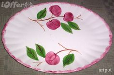 Image detail for -Blue Ridge Southern Pottery-- Crab Apple Platter for sale