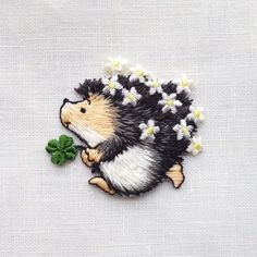 Wonderful Ribbon Embroidery Flowers by Hand Ideas. Enchanting Ribbon Embroidery Flowers by Hand Ideas. Crewel Embroidery Kits, Cute Embroidery, Silk Ribbon Embroidery, Hand Embroidery Designs, Embroidery Thread, Cross Stitch Embroidery, Embroidery Patterns, Broderie Simple, Motifs Textiles