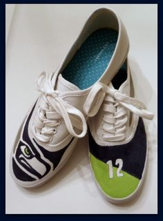 Seattle Seahawks Shoes Seattle Refined Wear by Solescreations, $70.00