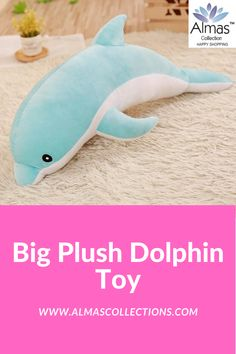 FROM ONLY $13.99 + FREE SHIPPING  Do your kids love dolphins? have they have ever seen a real one and said I want that? We know it is almost impossible to get them the real thing. But why not get them a really big soft plush dolphin that they can name and play with. It will make a great cushion during reading times and help them to feel safe as well as have an hour of great amazing fun. Comes in 2 colours blue and pink as well as in 5 sizes from 30 - 120cm. #plushtoys #animaltoys #bigtoys… Best Christmas Toys, Whale Plush, Toy Kitchen Set, Big Plush, Islamic Gifts, Kids Birthday Gifts, Baby Kids Clothes, Gifts For Boys, Baby Products