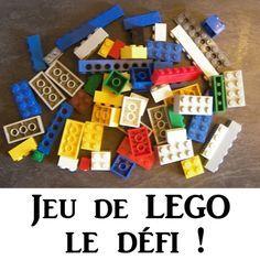 Petit jeu de lego sous forme de défi, idéal pour un retour au calme.