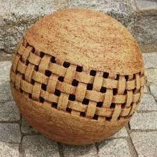 Gartendeko mit keramik kugeln und steinen gartenkugeln - Kieselsteine fur garten ...