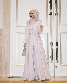 wunderschöner Hijab-Look ❤ - Prom Dresses Design Jumpsuit Hijab, Hijab Prom Dress, Hijab Gown, Hijab Evening Dress, Hijab Style Dress, Muslim Dress, Dress Outfits, Evening Dresses, Hijab Chic