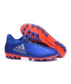 san francisco 1919e 7210a Adidas X 16.3 AG UMĚLOU TRÁVU muži kopačky modrý oranžový. Mens Football  BootsFootball ...