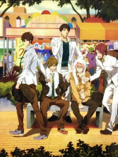 The free gang third years Hot Anime Boy, I Love Anime, Anime Guys, Fanarts Anime, Anime Manga, Anime Art, Rin Matsuoka, Deku Anime, Swimming Anime