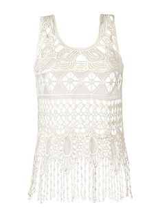 GM-CROCHET FRINGE HEM TOP