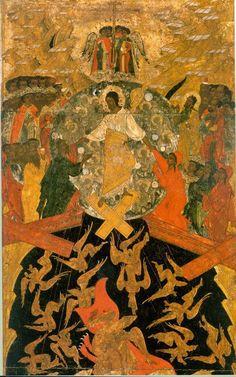 Дионисий Гринков. Сошествие во ад - фрагмент иконы из Ильинской церкви в Вологде. 1567/1568 г.