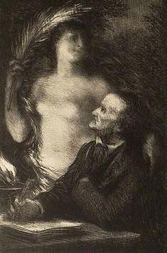 The Muse (Richard Wagner) - Henri Fantin-Latour  ArtExperienceNYC   www.artexperiencenyc.com