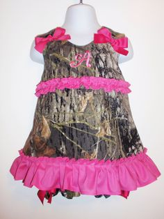 I think Daddy might actually let me get this one... Camo A Line w Mongram-Infant to Toddler