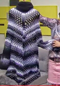 As Receitas de Crochê: Vestido poncho em crochê