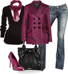 """Pink and Black"" by partywithgatsby on Polyvore"