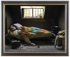 Yinka Shonibare - Fake Death Picture, The Death of Shatterton, Henry Wallis 2011