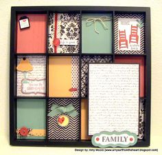 For Always family display tray @Amy Lyons Lyons Lyons's Art from the Heart close to my heart