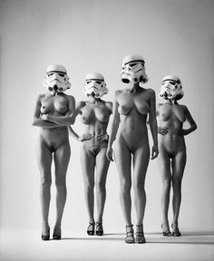 Photographer: Helmut Newton, Publication/Title: 'Stormtroopers's dreams', Date: Unknown, Model/s: Unknown, Designer/s: Unknown.