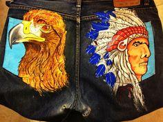águila e indio pantalón
