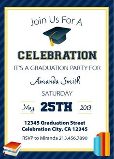 Free printable graduation party invitations party invitations save money with these free printable graduation invitations stopboris Choice Image