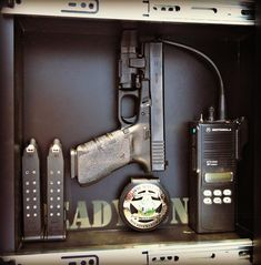 ReadyGun In-Wall Concealment:  Black Rubberized Interior with 75lb Strong Neodymium Magnets to hold Home Defense Guns and anything else you see fit.  Designed by a retired Police Officer.