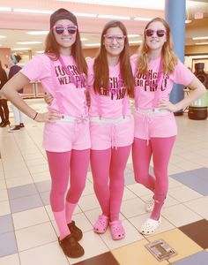 Homecoming SPIRIT WEEK OUTFITS.  Class Color Day! Pink Out!