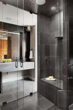Take your cue from these walk-in showers with stylish seats that invite bathers to sit down and unwind. #showerremodel #showerbenchideas #bathroomideas #walkinshower #bhg Small Bathroom With Shower, Master Bathroom Shower, Small Showers, Large Shower, Bathroom Design Small, Small Bathrooms, Bathroom Ideas, Bathroom Designs, Showers With Seats