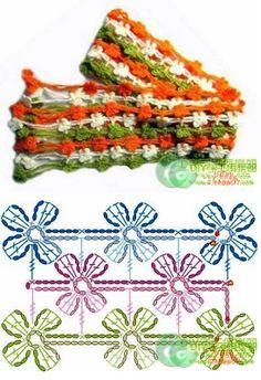 #569 Bufanda a Crochet o Ganchillo
