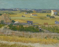 """The Harvest"", (1888) by Vincent can Gogh"