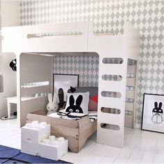 Children's room with F bunk bed from Rafa Kids