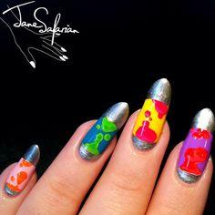 Jane Safarian Nail Art Jsfrn Nailart Lava Lamp Nails