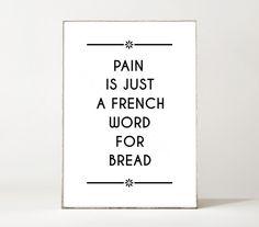 'BREAD'    Lass dich in deinem Zuhause inspirieren!  Dieser Kunstdruck wird in DIN A4 auf mattem 300 g/m² Offwhite Papier gedruckt.  Das Motiv ist ebenfalls in DIN A3 für 14,90 €...