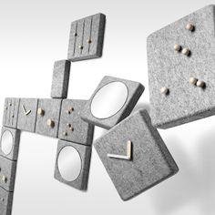 Menu wandsysteem Wallpanel-magnetische sleutelhanger door Norm Architects