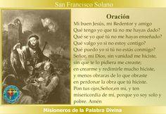 Misioneros de la Palabra Divina: SANTORAL - SAN FRANCISCO SOLANO