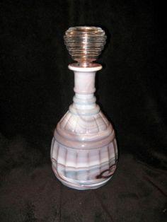 RARE Purple Slag Imperial Glass Cask Bottle w Stopper   eBay