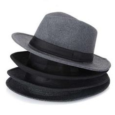 fb0b3661fcaf1 Wool men Black Fedora Hat For Women s Wool Wide Brim JazzChic Cap Vintage  Panama Sun Top Hat