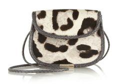 Tamara Mellon Treasure Leopard-print Calf Hair Shoulder Bag #fashion #loveatfirstsight #leopardtrend