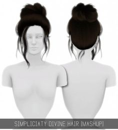 DIVINE HAIR MASHUP by Simpliciaty for The Sims 4