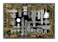 """Lima-based architect Karina Puente has a personal project: to illustrate each and every """"invisible"""" city from Italo Calvino's 1972 novel. Kublai Khan, Brush Script, Advanced Higher Art, Brooklyn, City Drawing, Invisible Cities, Collage Techniques, Funny Posters, Architecture Drawings"""