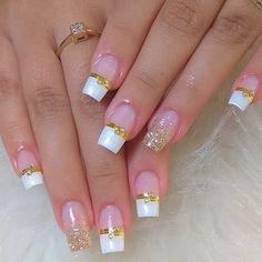Nail Designs Toenails, Ombre Nail Designs, Acrylic Nail Designs, Nail Art Designs, Square Acrylic Nails, Pink Acrylic Nails, Diy Nails, Swag Nails, Nail Art Noel