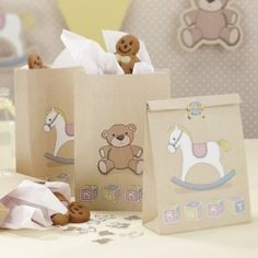 Party Bags - Rock-a-bye Baby, Goodie Bags, Baby Shower, First Birthday Party, Christening Bonbons Baby Shower, Cadeau Baby Shower, Idee Baby Shower, Baby Shower Favours, Fiesta Baby Shower, Baby Favors, Baby Shower Parties, Baby Showers, Shower Party