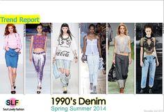 1990's Denim #Fashion Trend for Spring Summer 2014 #spring2014 #denim #jeans #trends