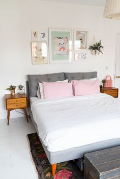 Home Tour: Tiny & The House - The Frugality Victorian Terrace Interior, Victorian House Interiors, Flat Interior, Decor Interior Design, Interior And Exterior, The Frugality, Mid Century Decor, Bedroom Styles, White Bedroom