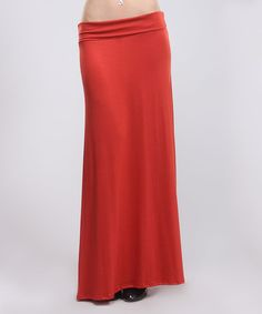 Loving this Brick Maxi Skirt - Plus on #zulily! #zulilyfinds