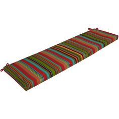 Mainstays Outdoor Bench Cushion, Bright Stripe: Patio & Outdoor Decor : Walmart.com