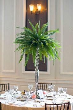 Fern wedding centerpieces are cool and woodsy / http://www.deerpearlflowers.com/greenery-fern-wedding-ideas/